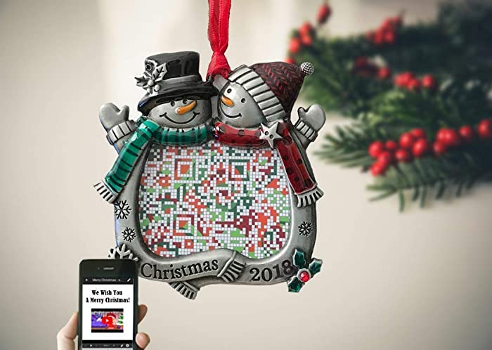 5c6d57f6bd Image Unavailable. Image not available for. Color: Customized Snowman Couples  Christmas ...