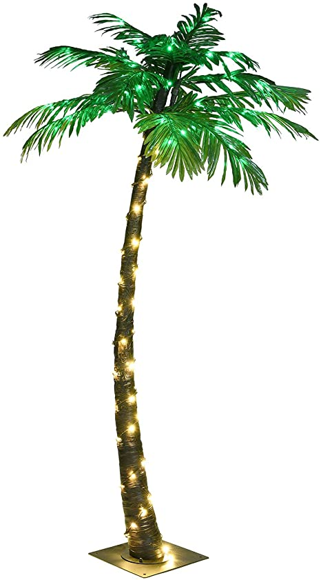 lightshare 5ft artificial lighted palm tree 56led lights decoration for home party christmas nativity outside patio