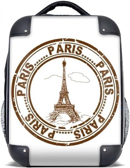 DIYthinker París Francia Torre Eiffel Classic País Ciudad del estuche rígido de transporte para hombro Niños Mochila 15
