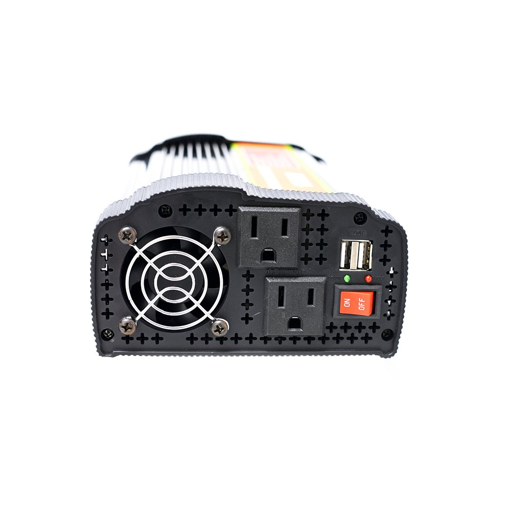 1000 Watt 12V Power Inverter Dual 110V AC Outlets with 2.1A Dual USB Car Adapter for Blenders, Vacuums, Power Tools. by SPEAUTO (Image #4)
