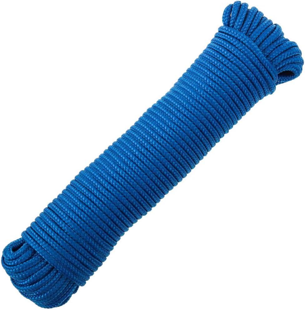 Corde tress/ée /à Fils Multiples PP 10 m x 6 mm Bleu PrimeMatik