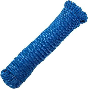 PrimeMatik - Cuerda Trenzada multifilamento PP 10 mx 3 mm Azul