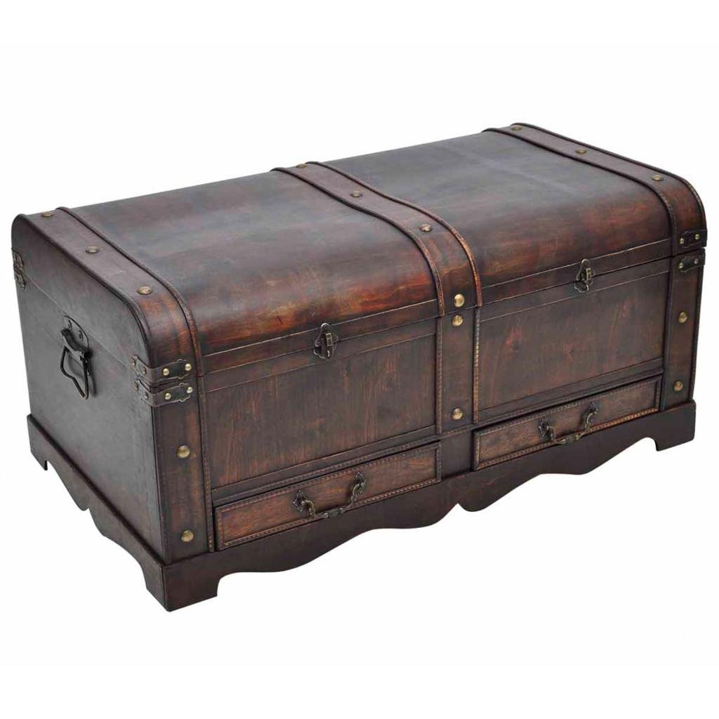 Coffre au trésor brun et en bois