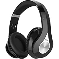Mpow 059 Bluetooth Headphones Over Ear, Hi-Fi Stereo Wireless Headset, Foldable, Soft Memory-Protein Earmuffs, w/Built-in Mic Wired Mode PC/Cell Phones/TV - Black Deep