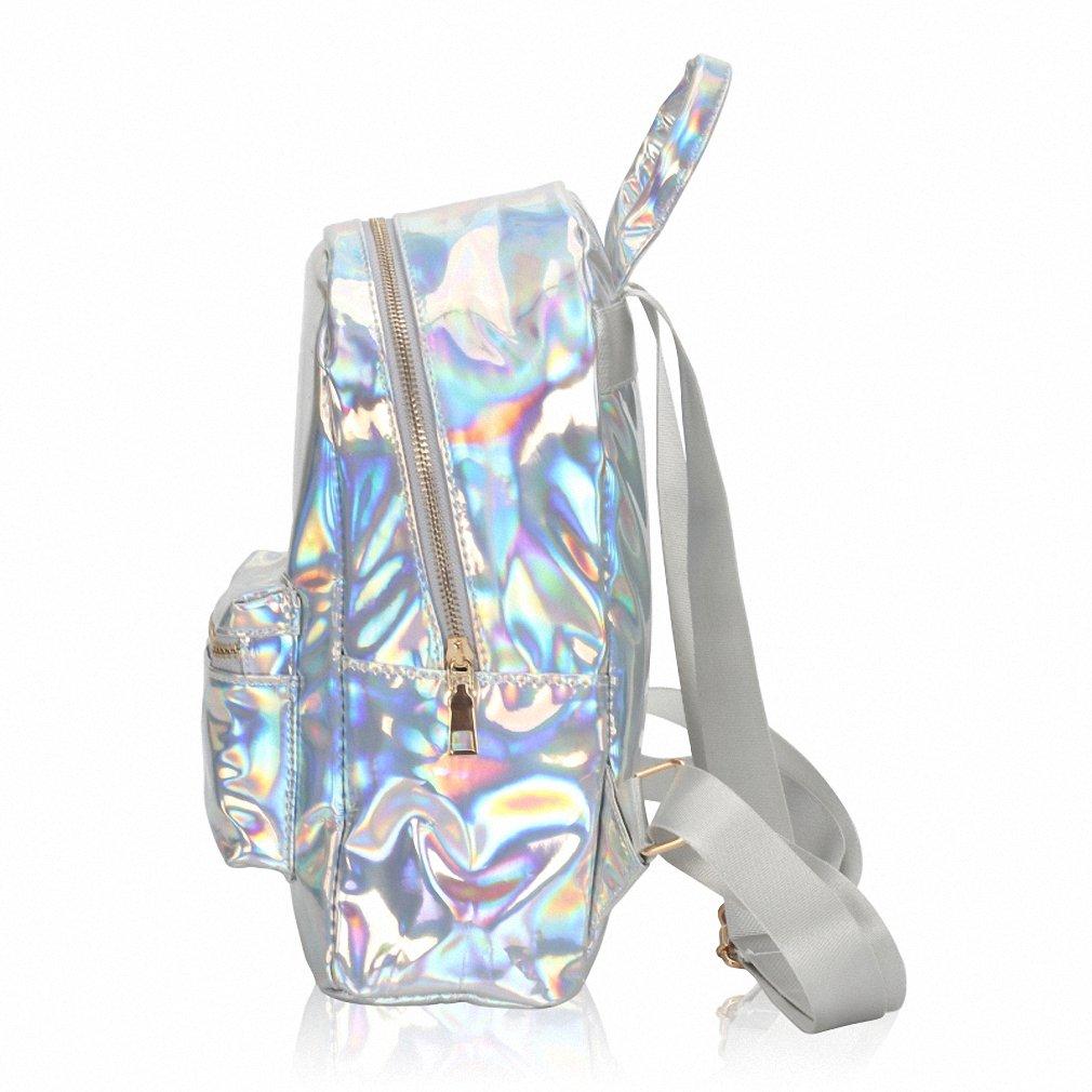 Amazon.com | NEW Summer Silver Hologram Laser Backpack Girl School Shoulder Bags For Teenage Girls Mochilas Feminina Gifts Blue | Kids Backpacks
