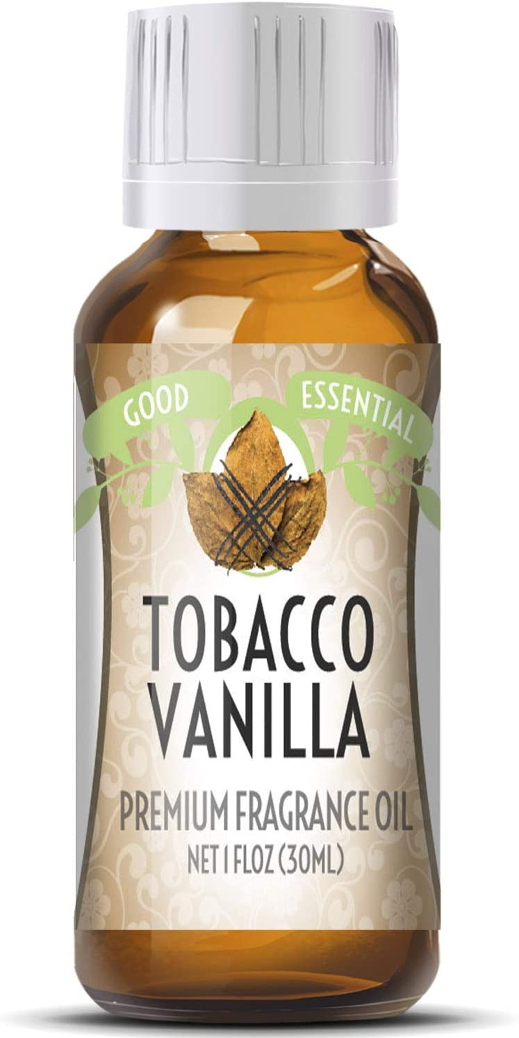 Tobacco Vanilla Scented Oil by Good Essential (Huge 1oz Bottle - Premium Grade Fragrance Oil) - Perfect for Aromatherapy, Soaps, Candles, Slime, Lotions, and More!