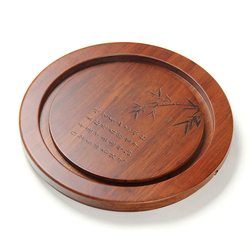 Tea Tray Tea Table Solid Wood Heavy Bamboo Tray Home Living Room Drainage Tea Table Whole Tea Set (Color : 45454.5CM) by GQQ (Image #8)