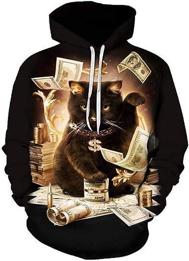 Mens Fashion New 3D Printed Sanitary Clothes Hooded Long Sleeved Top Blouse Palarn Mens Fashion Sports Shirts
