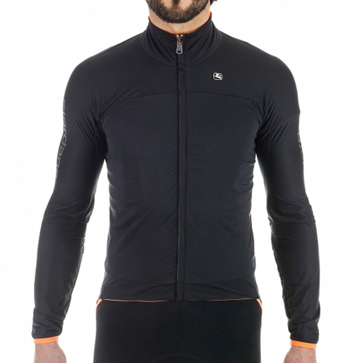 Giordana 2017 /18 Men 's Aqua Vento 100 h20サイクリングジャケット – gicw16-jckt-1h20 B076D75CH5 4L|ブラック ブラック 4L