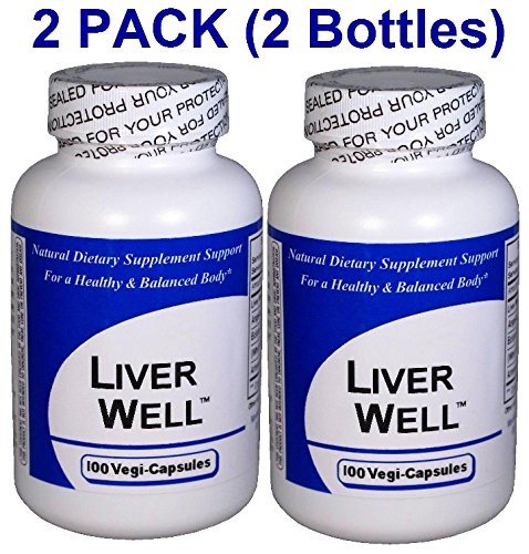 Liver Well (100 Capsules) ''2-PACK''- Concentrated Herbal Blend - Dietary Supplement by Get Well Natural, LLC