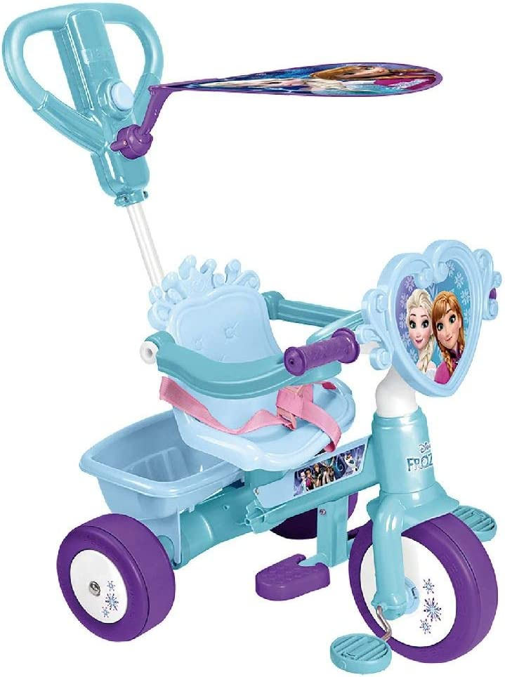 FEBER - Triciclo y cochecito de paseo Frozen (Famosa 800011814)