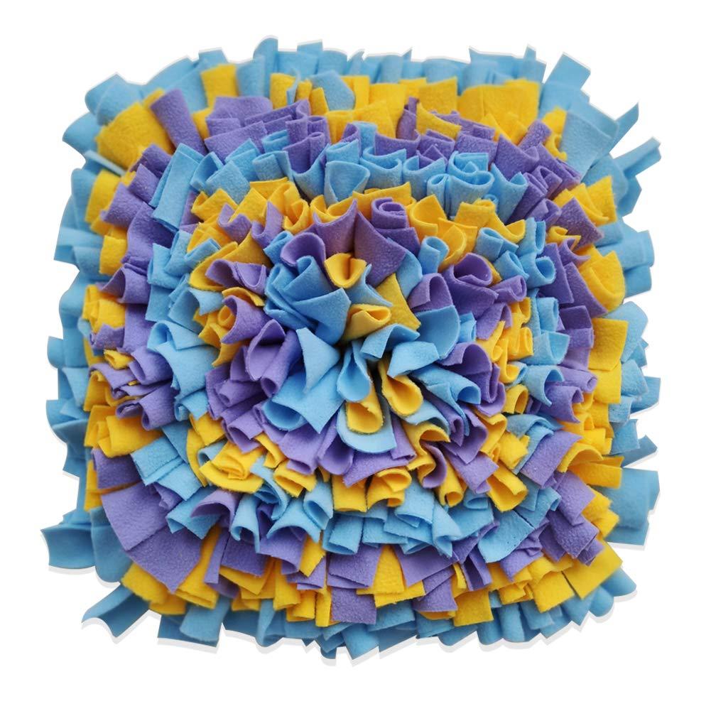 Multicolor Juzi Dog Snuffle Mat Pet Dog Puzzle Feeders Promotes Natural Foraging Skills (Multicolor)