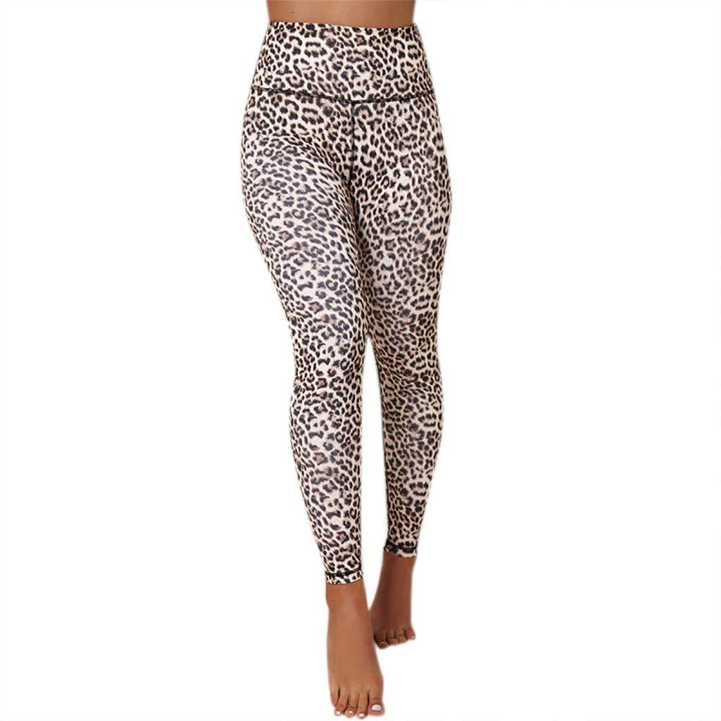 29e6a03b9dae Amazon.com: Fheaven 2019 Yoga Pants Women's Sexy Leopard Print Sports  Running Leggings Pants: Clothing