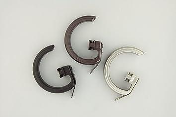 au0026f rod decor 10 rings for decorative traverse rods cocoa