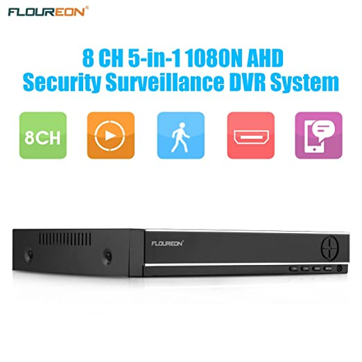 Amazon.com : FLOUREON 8 Channel AHD 1080N DVR CCTV Security System Video Recorder 5 IN 1 Support TVI/CVI/ONVIF/AHD/Analog Security Surveillance Camera ...