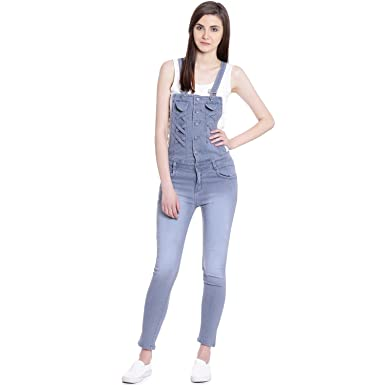 45120a92ab6b Broadstar Women's Denim Dungaree: Amazon.in: Clothing & Accessories