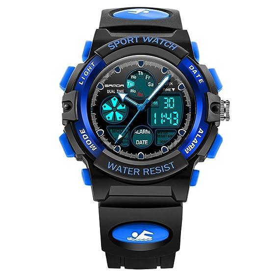 Relojes Deportivos para Hombre, Reloj analógico y Digital con diseño para Mujer, Impermeable con