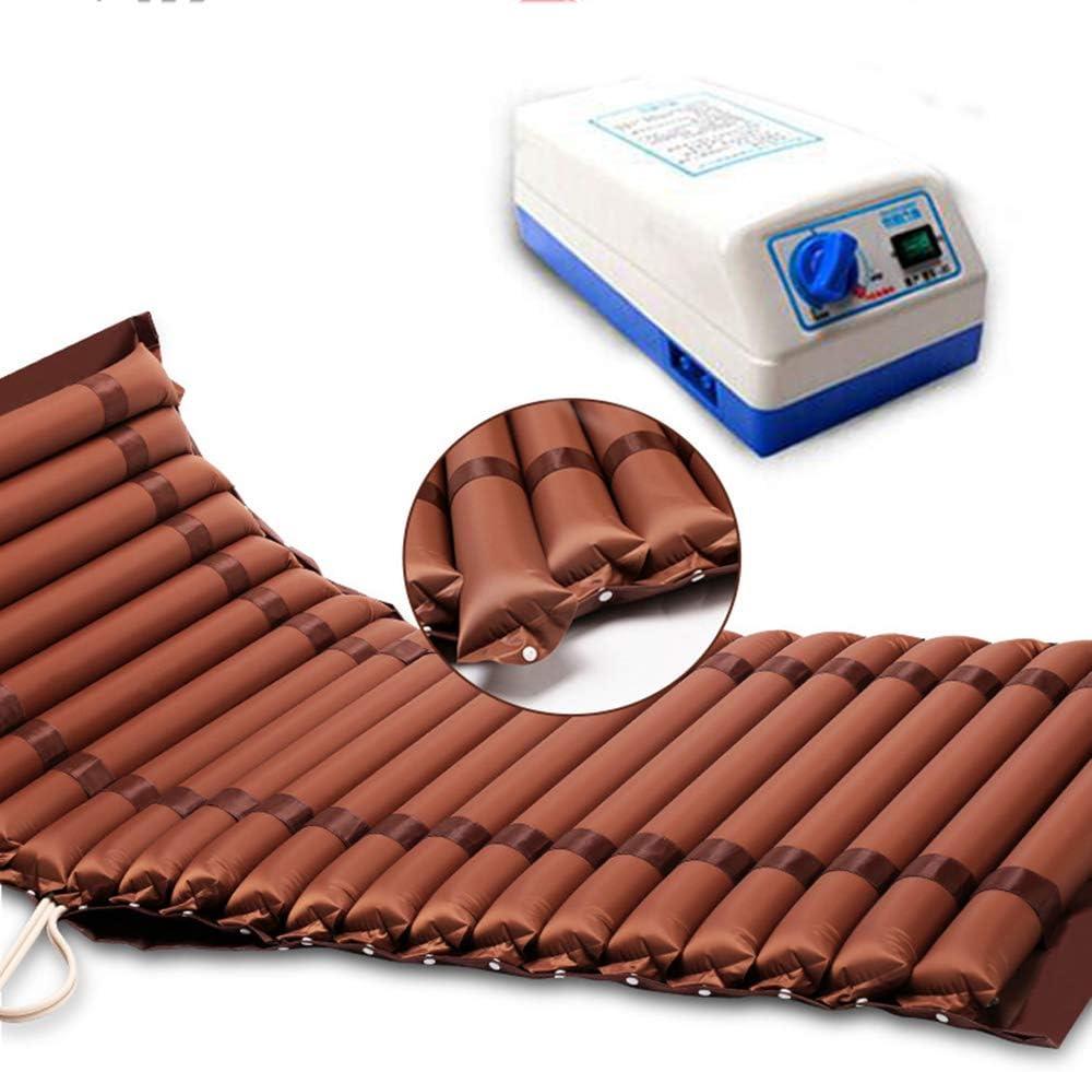 PHASFBJ Burbuja de Colchón Anti-decúbito, Colchón Antiescaras con Motor Compresor para Prevencion de Ulceras por Presion Muy Silencioso Colchoneta Antiescaras de Aire Alternante