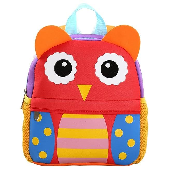 ab518e2b3a Flyingsky Kids Backpack Toddler Backpacks for Kindergarten Low Grade Boys  and Girls (owl)  Amazon.co.uk  Clothing
