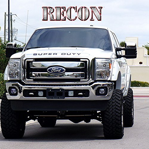 Hood Insert Set - Xtreme Autosport 2008-2016 Ford Super Duty Raised Letters Inserts Decals for Hood,Tailgate,Dash Recon Chrome & Black 264181chbk New Improved