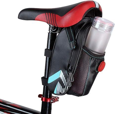 Roswheel - Bolsa para sillín de Bicicleta con luz Trasera ...