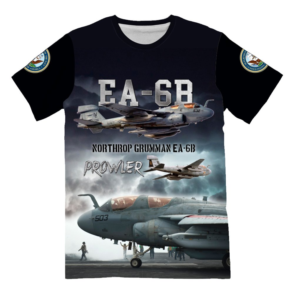 NIWAHO Personalized USAF US Navy EA-6B Prowler T-Shirt For Mens 3d allover Printed Military Lover Short Sleeve Top Tees by NIWAHO