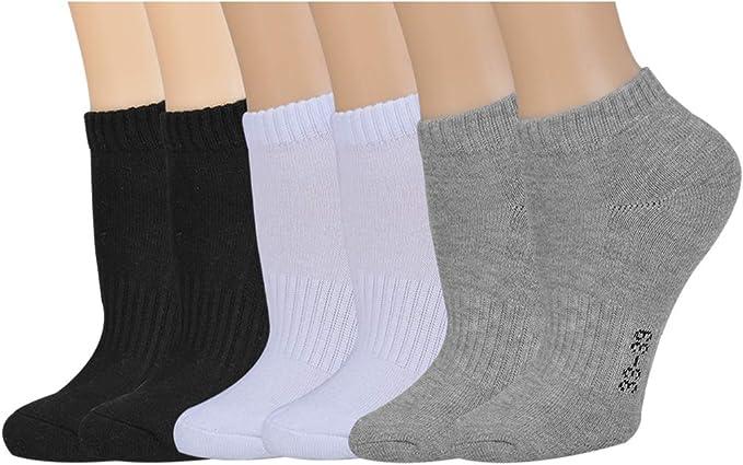 Puimentiua - Calcetines deportivos para mujer, talla baja ...