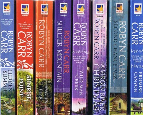 - A Virgin River Series 15-Book Collection: Hidden Summit; Sunrise Point; Angel's Peak; Shelter Mountain; Wild Man Creek; A Virgin River Christmas; Promise Canyon; Second Chance Pass; Bring Me Home for Christmas; Redwood Bend; Whispering Rock; + 4 More