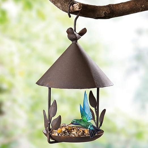 Comedero Pájaro Colgante - Estilo Vintage Pájaro Silvestre Jardín Colgante Alimentadores para Jardín Decoración - Vintage Marrón, Free Size: Amazon.es: Jardín