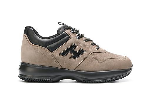 Hogan Scarpa Uomo Interactive HXM00N0AL30H1P6EE9 Sneakers Camoscio Beige   MainApps  Amazon.it  Scarpe e borse 5a71010e4ed