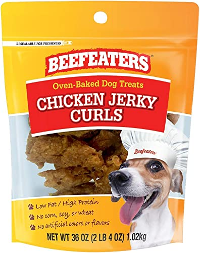 Beefeaters Chicken Jerky Curl Treats for Dogs 36 oz