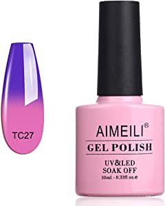 AIMEILI Soak Off UV LED Temperature Colour Changing Chameleon Gel Nail Polish - Dark Clouds (TC27) 10ml