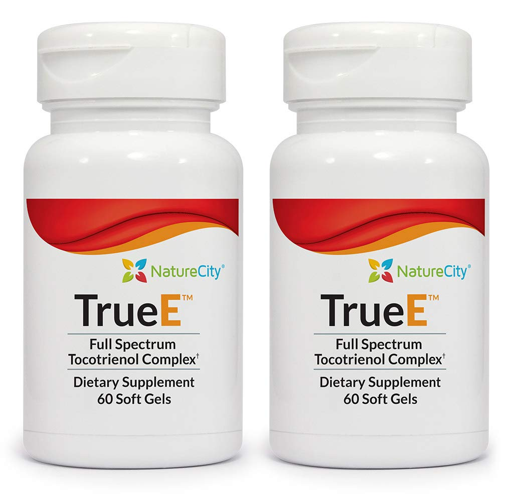 True E Full Spectrum Tocotrienol Complex - Helps Boost & Maintain Cardiovascular Health - 60 Soft Gels (2) by NatureCity (Image #1)