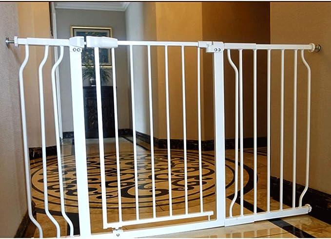 HONGAN Ampliable bebé Puertas de Valla de Seguridad for Mascotas Escaleras Door Bar Valla Cubierta ponche Ser Libre Cerrado (Color : High76cm, Size : 230~241.9cm): Amazon.es: Hogar