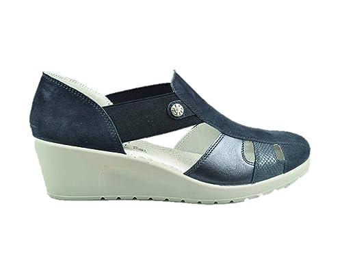 offerta speciale grandi affari bellezza Enval Soft 3260111 Wedge Heel Sandals Slip on Sneakers Blue ...