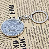 1 Pc Convincing Unique Keychain Frames Mini Pocket Metal Alloy Calendar Cute Multiple Tool Utility Best Accessories Quick Strap Wrist Holder Finder Men Women Teen Teenagers Girls Color Silver