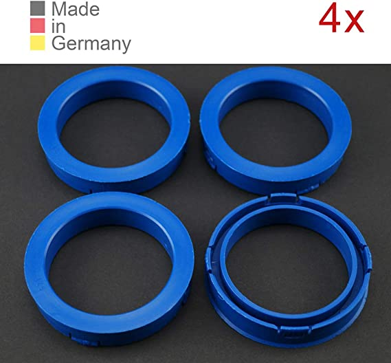 Konikon 4x Zentrierringe 73 10 X 57 10 Mm Blau Felgen Ringe Radnaben Zentrierring Adapterring Ring Felgenring Distanzring Made In Germany Auto