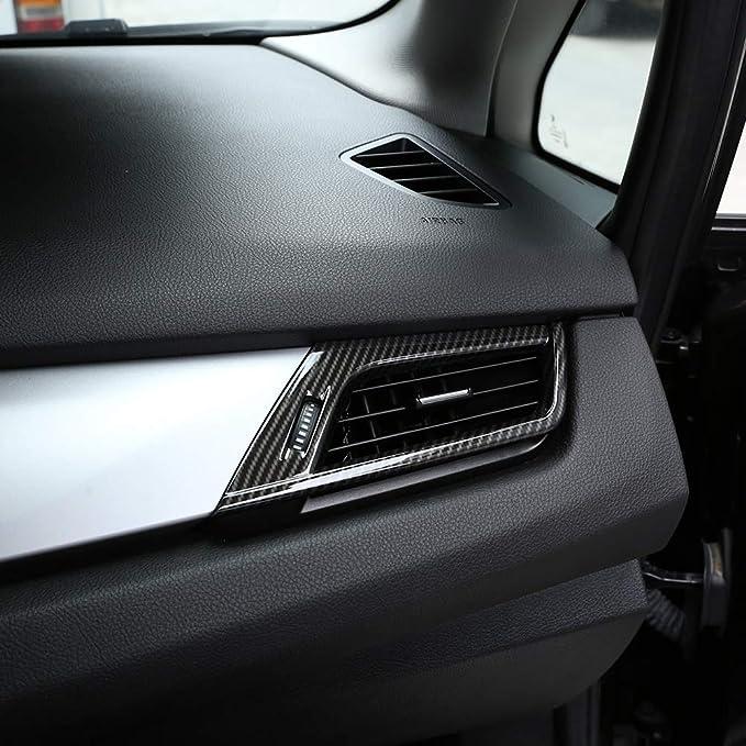 Karbonfaser Für 2er Serie F45 F46 218i 2015 2018 Autozubehör Abs Chrom Seiten Klimaanlage Lüftungsgitter Rahmen Verkleidung Auto