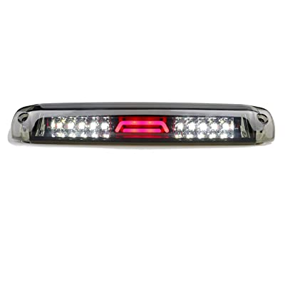 (Smoke) LED Third 3rd Brake Light for 1999-2007 Chevy Silverado GMC Sierra 1500 2500 3500 HD Classic, Reverse Light Rear Cargo Lamp High Mount Stop light: Automotive