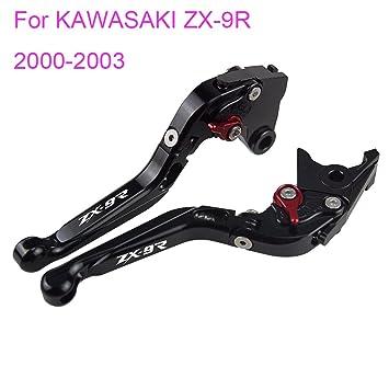 pro-kodaskin plegable extensible de freno palanca de embrague para KAWASAKI ZX-9R 2000 - 2003: Amazon.es: Coche y moto