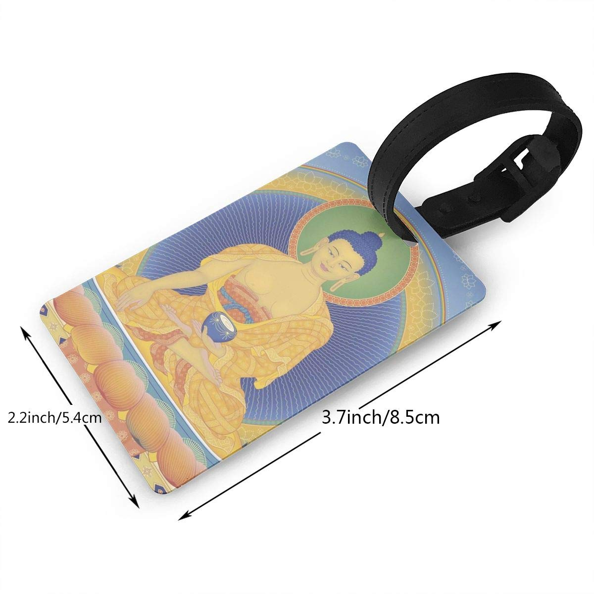 2 Pack Luggage Tags Buddhism Travel Tags For Travel Bag Suitcase Accessories