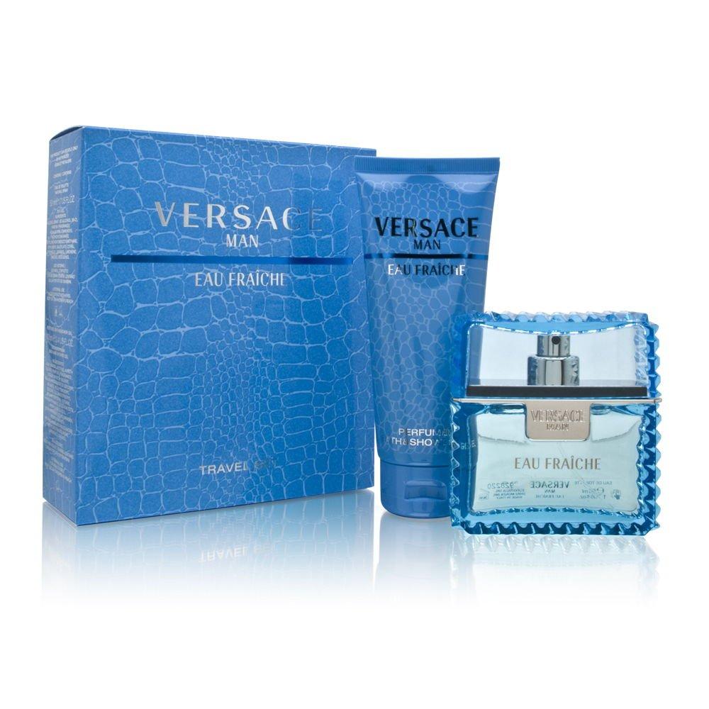Versace Man Eau Fraiche by Versace for Men 2 Piece Set Includes: 1.7 oz Eau de Toilette Spray + 3.4 oz Perfumed Bath & Shower Gel