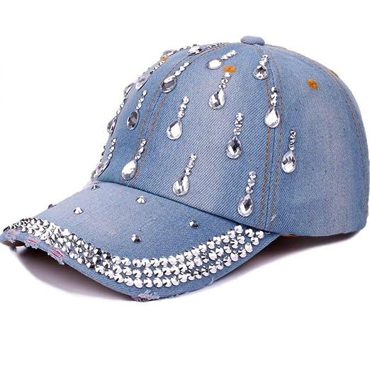 Zhjbqm Gorra de béisbol Moda Denim para Mujer Sombreros de béisbol ...