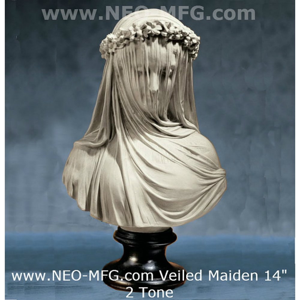 14' Museum Replica Italian Bride Maiden Statue Sculpture Bust Inspired By Artist Raphael Monti