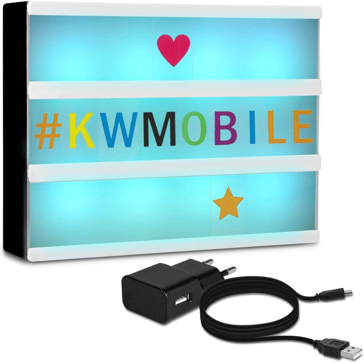 kwmobile caja de luz LED A4 - Light box con luces de 7 colores y ...