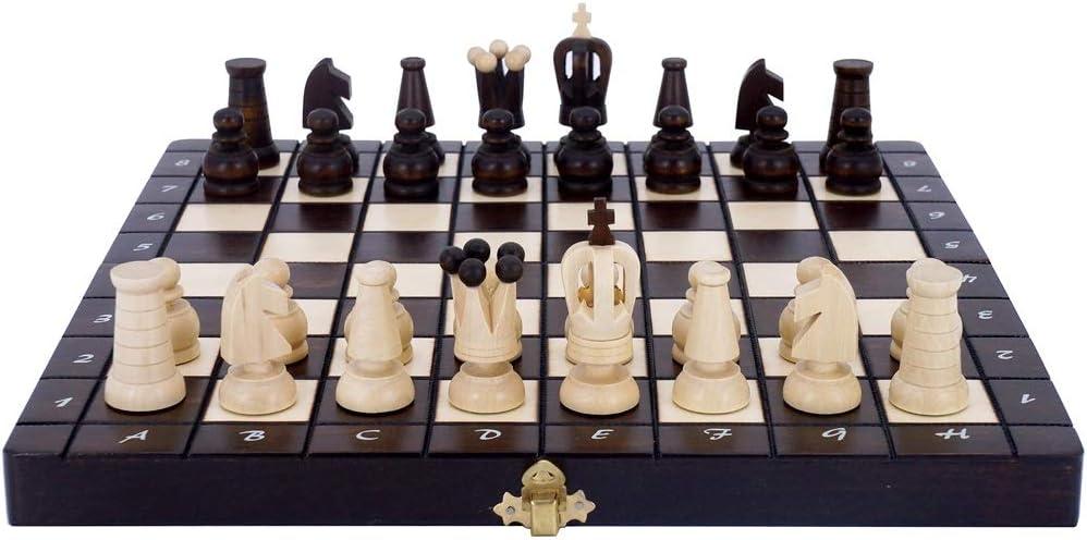 Zunruishop Madera sólida Ajedrez Plegable portátil de ajedrez de Viaje Juego de Mesa Juego - Principiante Juego de ajedrez for niños y Adultos: Amazon.es: Juguetes y juegos