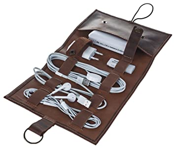 Ladekabel Aufbewahrung pelle ledermappe zur aufbewahrung kopfhörer und ladekabel