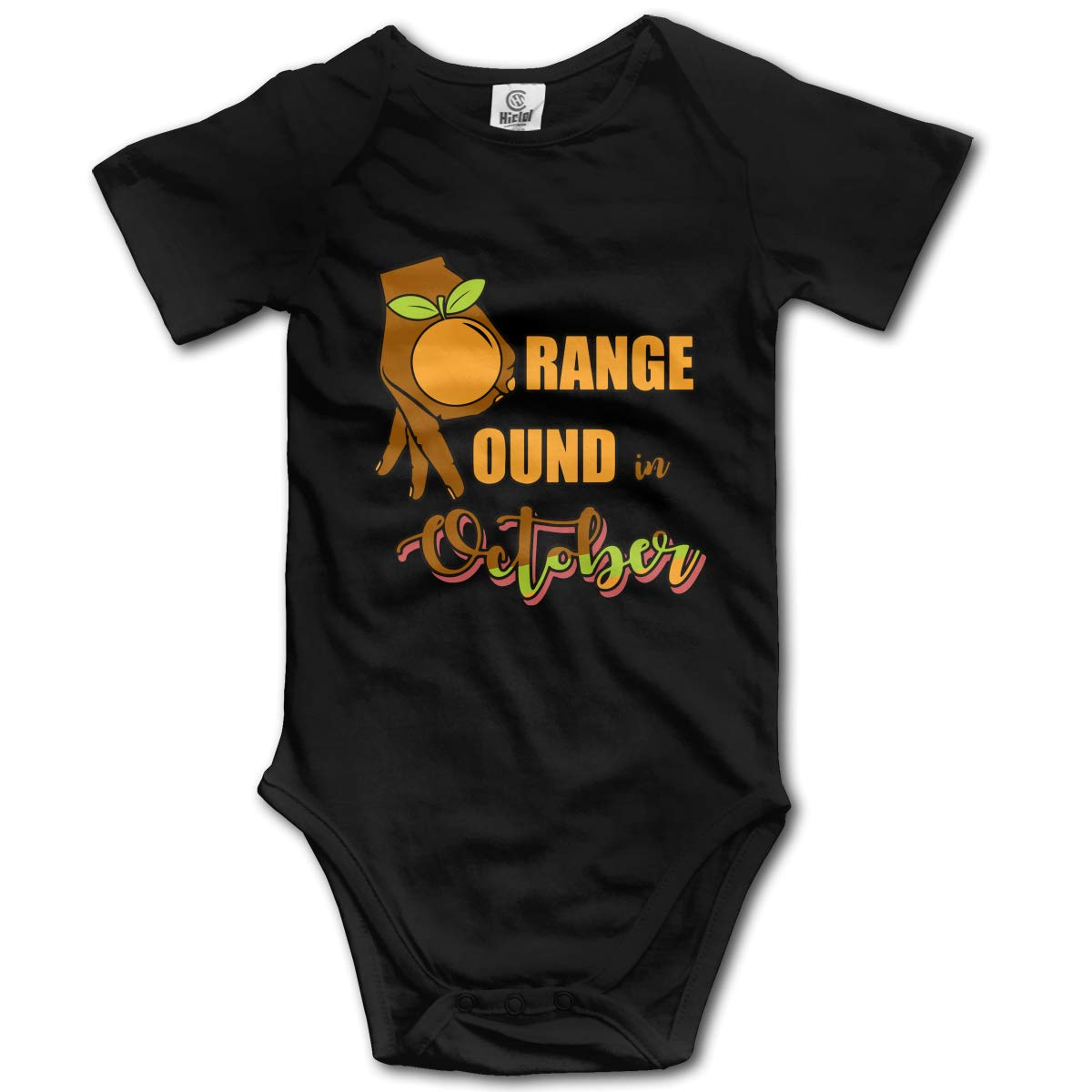 Orange Mound in October Suit 6-24 Months Short Sleeve Baby Clothes Climbing Clothes