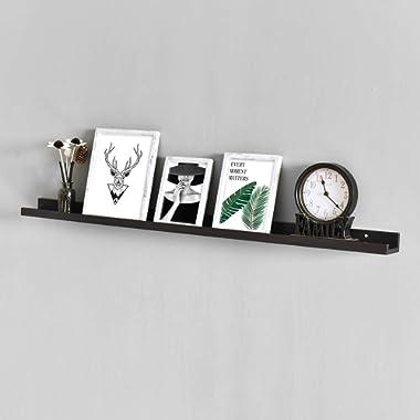 WELLAND Photo Ledge Photo Ledge Shelves, Photo Ledge Wall Shelf (48-inch, Espresso)