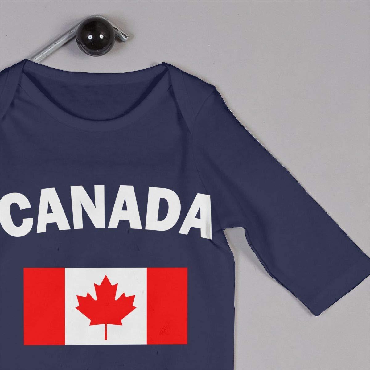 LBJQ8 Canada Flag Unisex Baby Organic Cotton Romper Jumpsuit Bodysuit